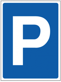 Temporary Parking Construction Sign SSW0094