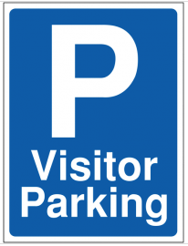 Visitor parking building site sign SSW0092