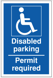 Disabled Parking No Permit Required Sign SSW0089