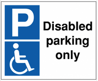 Disabled Parking Only Signs SSW0088