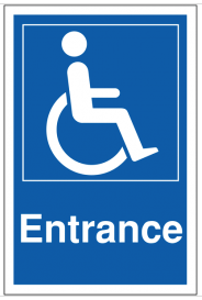 Disabled Parking Entrance Signs SSW0087
