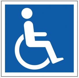 Internationally recognised disabled parking sign SSW0086