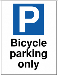 Bicycle parking only outdoor car park sign SSW0032