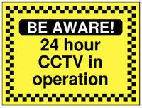 24-hour CCTV in operation safety/construction sign SSW0016