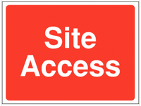 Construction site access signs SSW0077