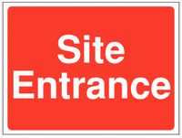 Site entrance Construction Sign SSW0074
