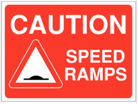 Speed Ramps Warning Signs SSW0073