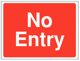 No entry sign for construction sites SSW0072