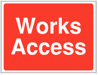 Works Access Construction signs SSW0071