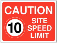 10 mph Site Speed Limit Sign SSW0014