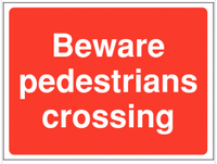 Pedestrians Crossing Construction Site Sign SSW0068