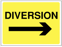 Diversion Arrow Right Construction Sign SSW0064
