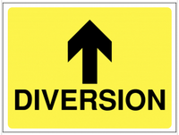 Diversion Arrow Straight Ahead Construction Sign SSW0062