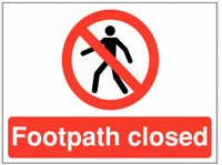Closed footpath Sign SSW0061