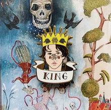 Horror King and Queen Enamel Pins
