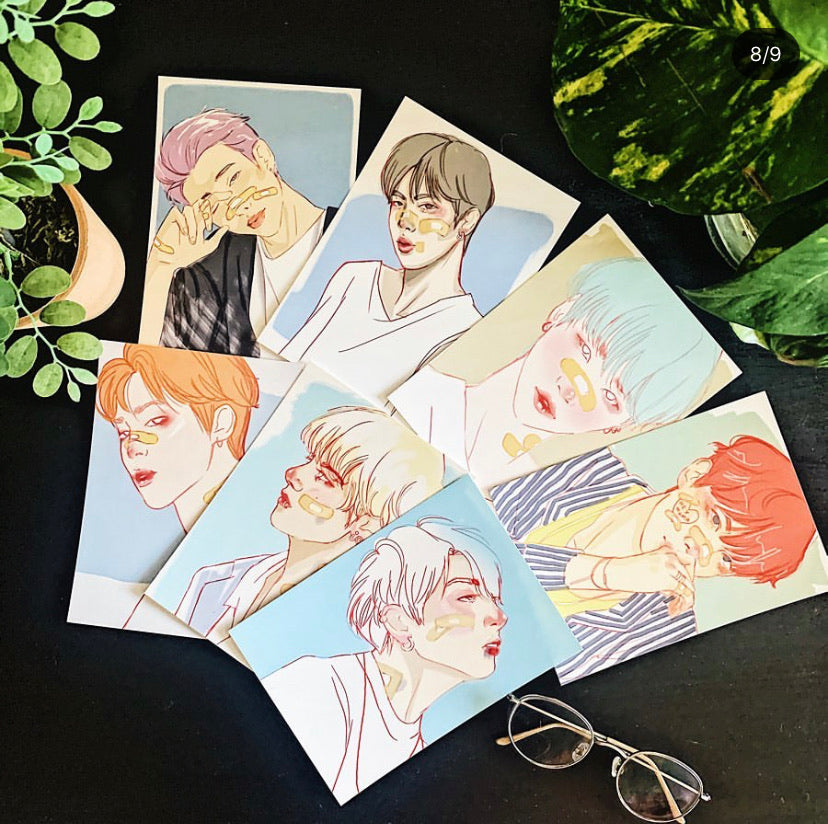 BTS Sketch Prints