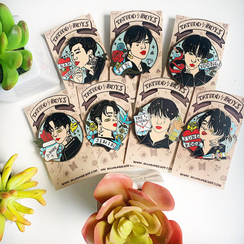 Tattoo Boys ⚡️ Enamel Pins