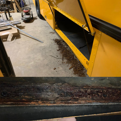 how to fix a rusty school bus