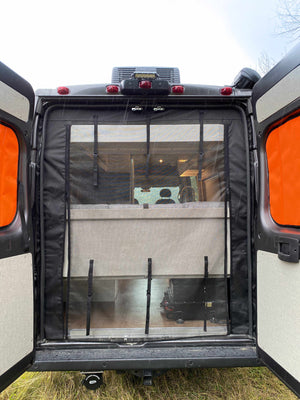 Canada Van Conversions - School Bus Conversions - Skoolie - Mercedes Sprinter Van Conversion Window Covers: High Roof-Window Covers-Paved To Pines-Pavedtopines