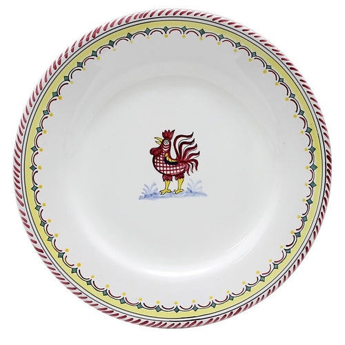 ORVIETO RED ROOSTER SIMPLE: Dinner Plate