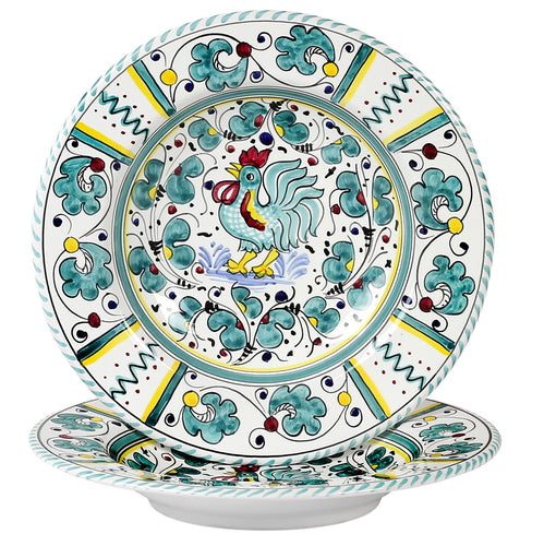 ORVIETO GREEN ROOSTER: Pasta Soup bowl