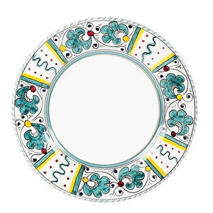 ORVIETO GREEN ROOSTER: Salad plate (White Center)