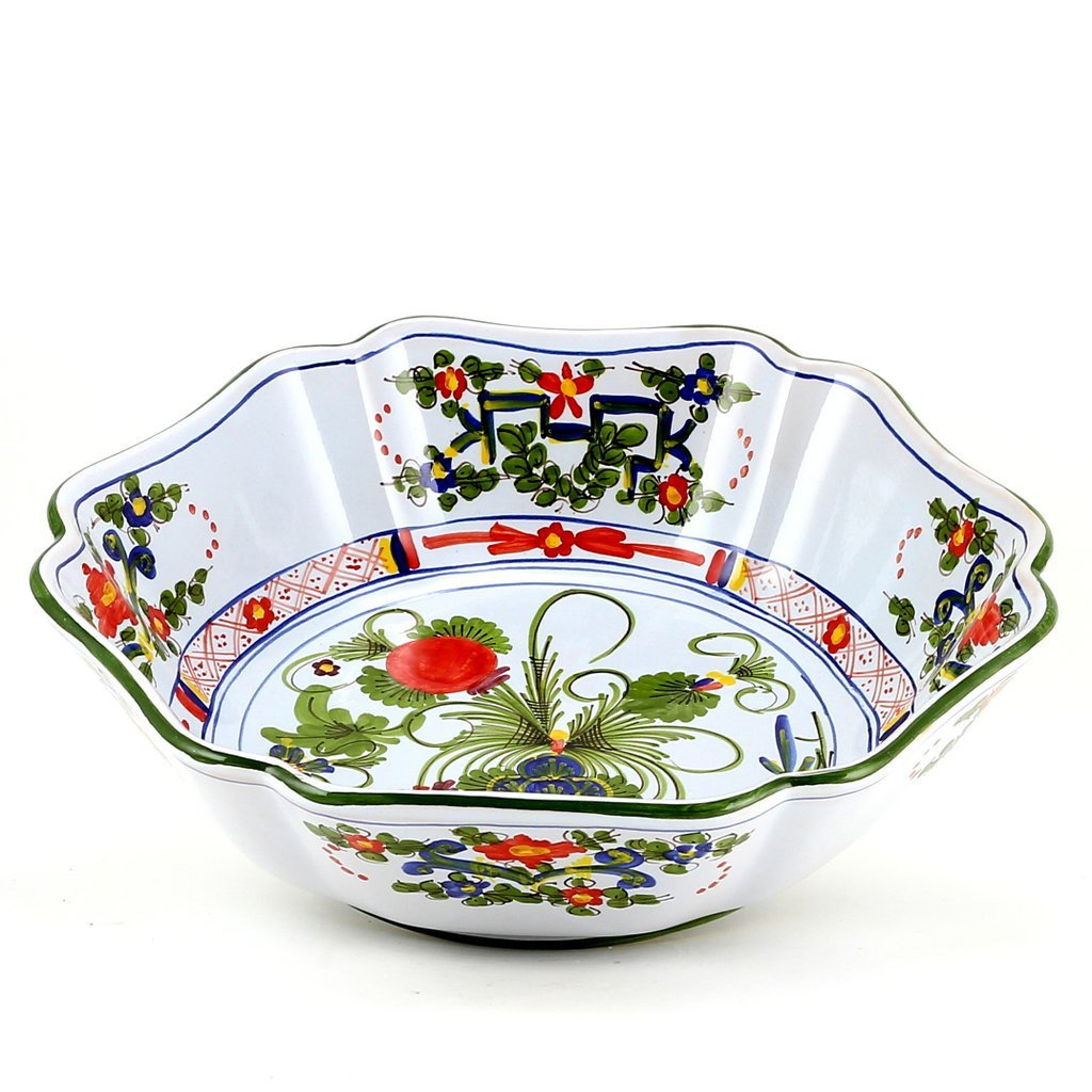 FAENZA-CARNATION: Large Serving salad pasta bowl