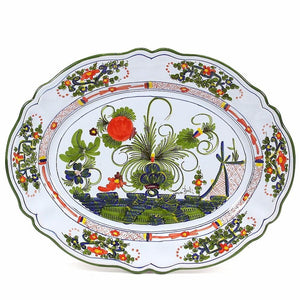 FAENZA-CARNATION: Large Oval platter