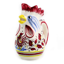 ORVIETO RED ROOSTER: Rooster of Fortune Pitcher (1 Liter 34 Oz 1 Qt)