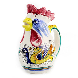 RAFFAELLESCO: Rooster of Fortune pitcher (1 Liter 34 Oz 1 Qt)