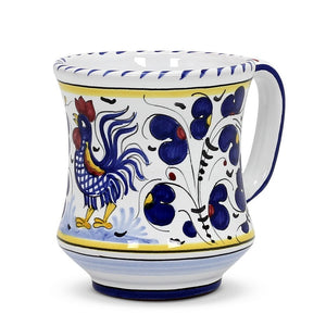 ORVIETO BLUE ROOSTER: Concave Deluxe Mug (12 Oz.)