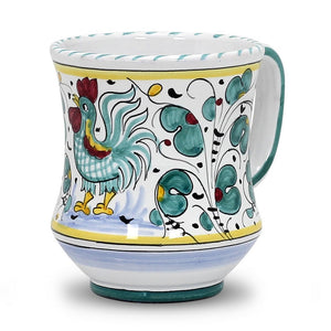 ORVIETO GREEN ROOSTER: Concave Deluxe Mug (12 Oz.)