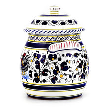 ORVIETO BLUE ROOSTER: Traditional Biscotti Jar