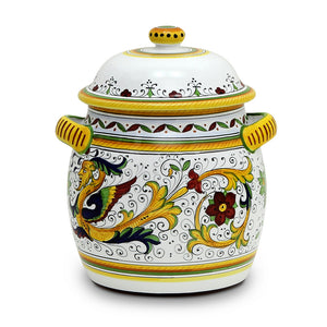 RAFFAELLESCO: Traditional Deruta Biscotti Jar