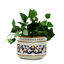 RICCO DERUTA: Cylindrical Cover Pot Ricco Deruta Design - Cachepot Planter (Small)