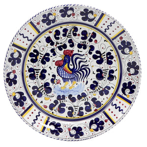 ORVIETO BLUE ROOSTER: Charger Platter
