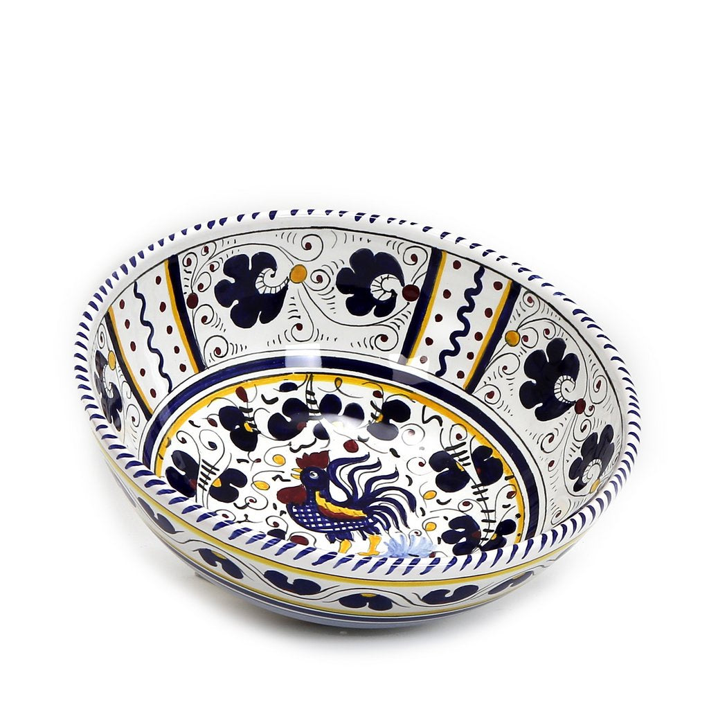 ORVIETO BLUE ROOSTER: Salad Bowl (Medium  10