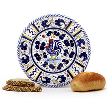 ORVIETO BLUE ROOSTER: Small Bread Plate
