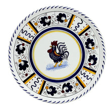 ORVIETO BLUE ROOSTER: Deruta Pizza Plate - Cake or Cheese Platter.