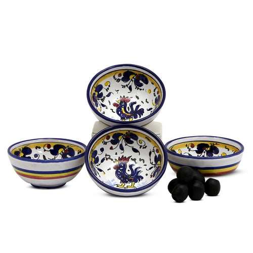 ORVIETO BLUE ROOSTER: Small Condiment Bowl (1 Cup)