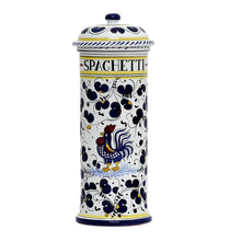ORVIETO BLUE ROOSTER: Spaghetti Container Canister