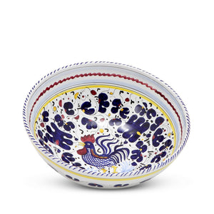 ORVIETO BLUE ROOSTER: Coupe Soup Pasta Bowl