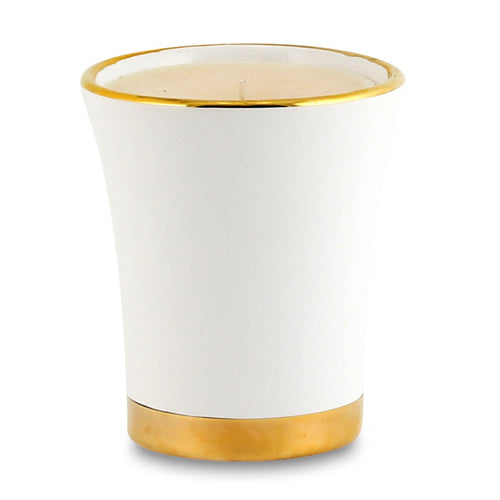 POSATA: Flared Candle Pure Gold Rim