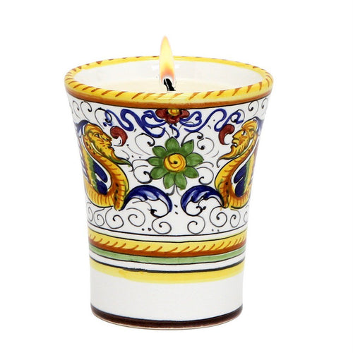 DERUTA CANDLES: Deluxe Precious Flared Candle RAFFAELLESCO DELUXE Design