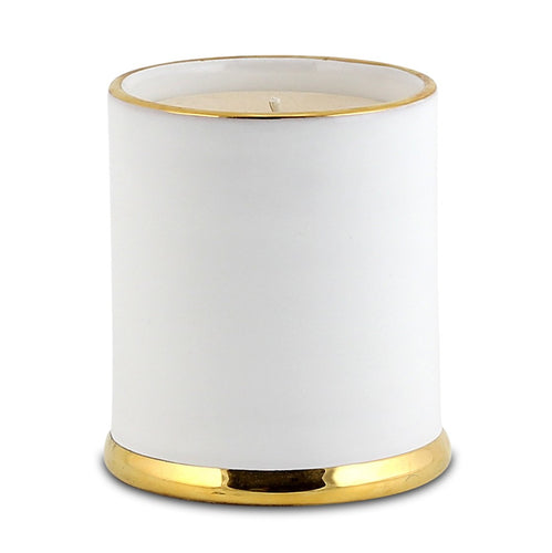 POSATA: Jar Candle with lid Pure Gold Rim