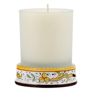 RAFFAELLESCO: Frosted Glass & Ceramic Base Candle