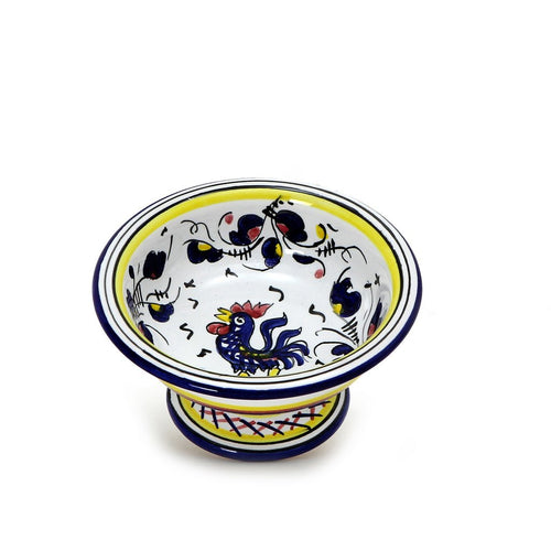 ORVIETO BLUE ROOSTER: Gelato/Fruit small footed bowl