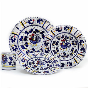 ORVIETO BLUE ROOSTER: 4 Pieces Place Setting
