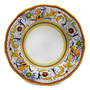 RAFFAELLESCO: Dinner Plate (White Center)
