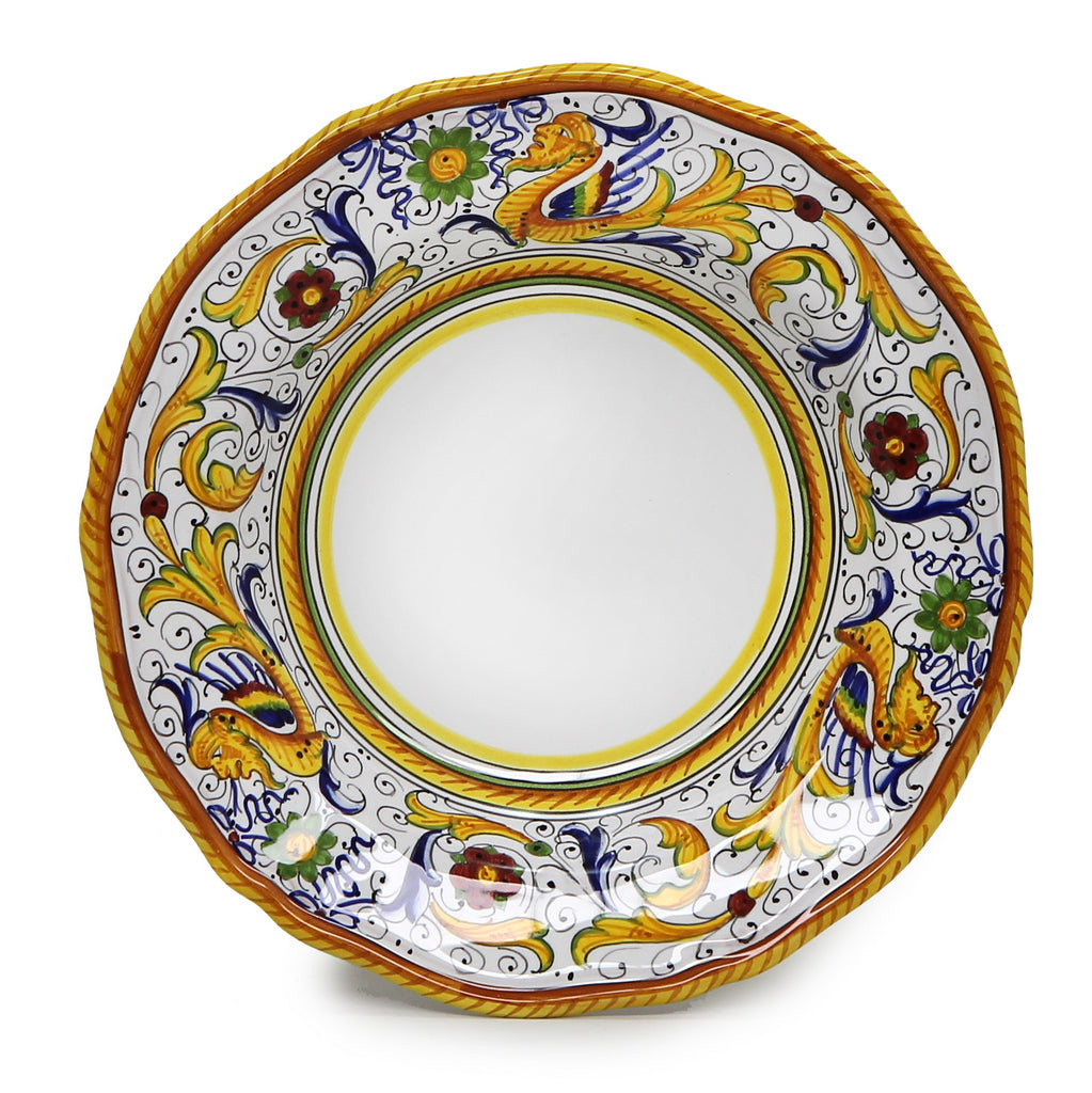 RAFFAELLESCO: Rim Pasta Soup plate (White Center)